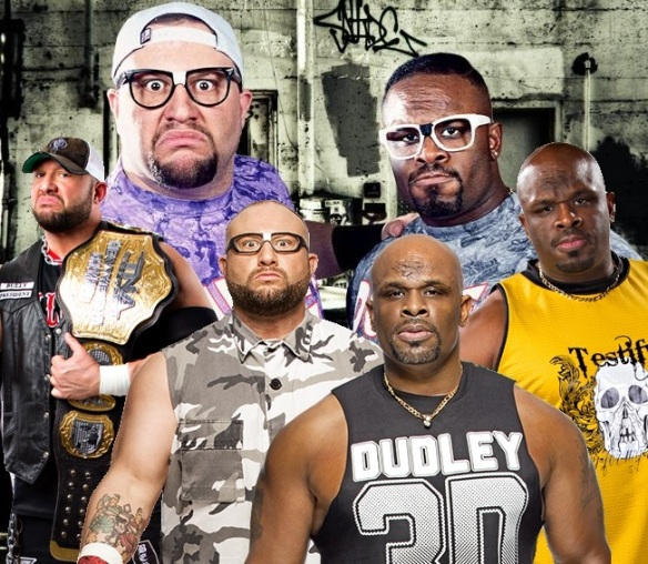 Dudley Boys, Dudley Boyz, Dudleyville, 3D, Team 3D, WWE, WWF, WCW, ECW, TNA, tables, Bubba Ray, Buh Buh Ray, D-Von, Brother Devon