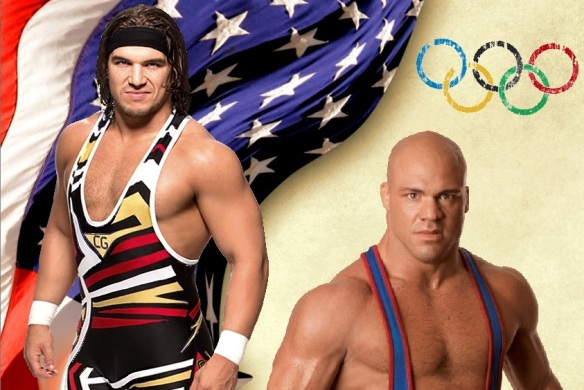 WWE wrestlers Chad Gable & Kurt Angle have represented the USA in the Olympic Games before.