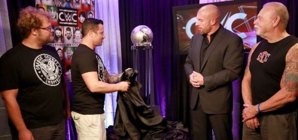 Triple H, Cruiserweight Classic, CWC, trophy, Orange County Choppers, WWE, HHH, WWF