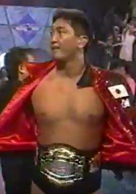 Shinjiro Otani, Ohtani, WCW, Worldwide, Cruiserweight Champion, belt, title, championship